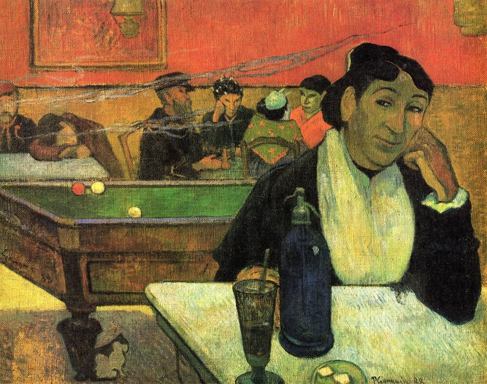 Cafe at Arlies, 1888 by Paul Gauguin