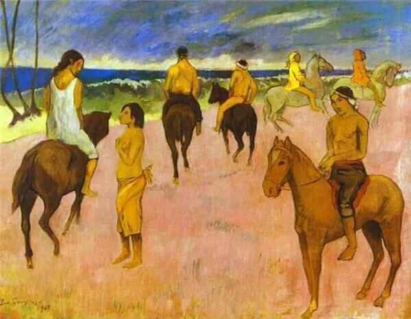 Riders on the beach ii 1902 - by Paul Gauguin