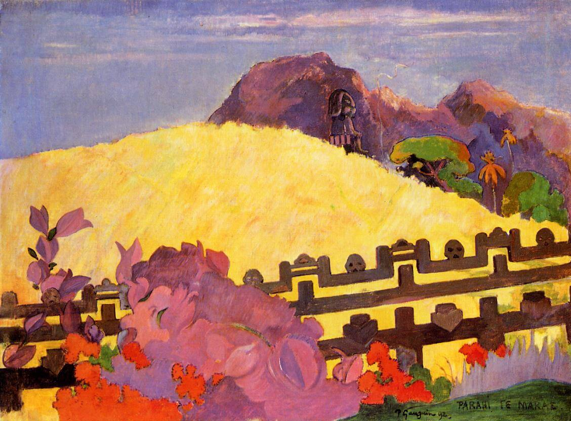 Sacred Mountain - by Paul Gauguin