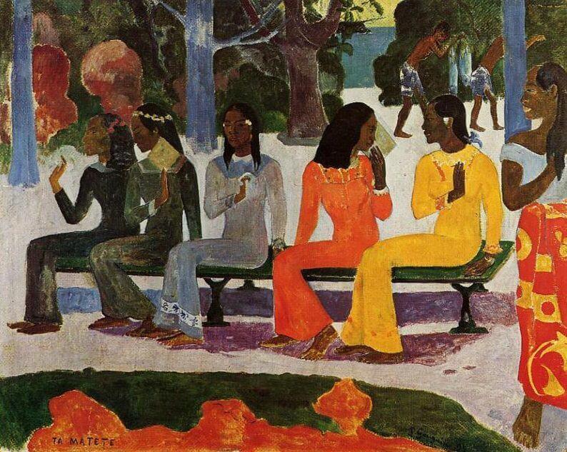 ta matete 1892 by paul gauguin