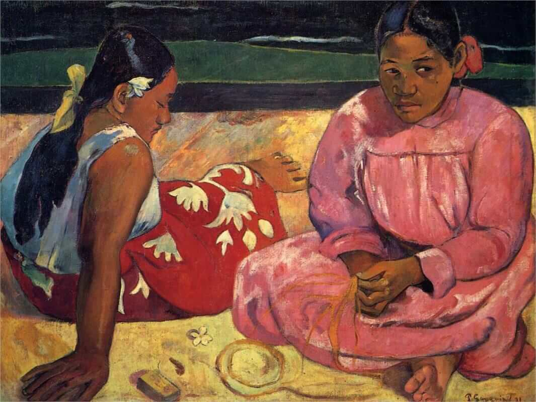 Tahitian Women, 1891 by Paul Gauguin