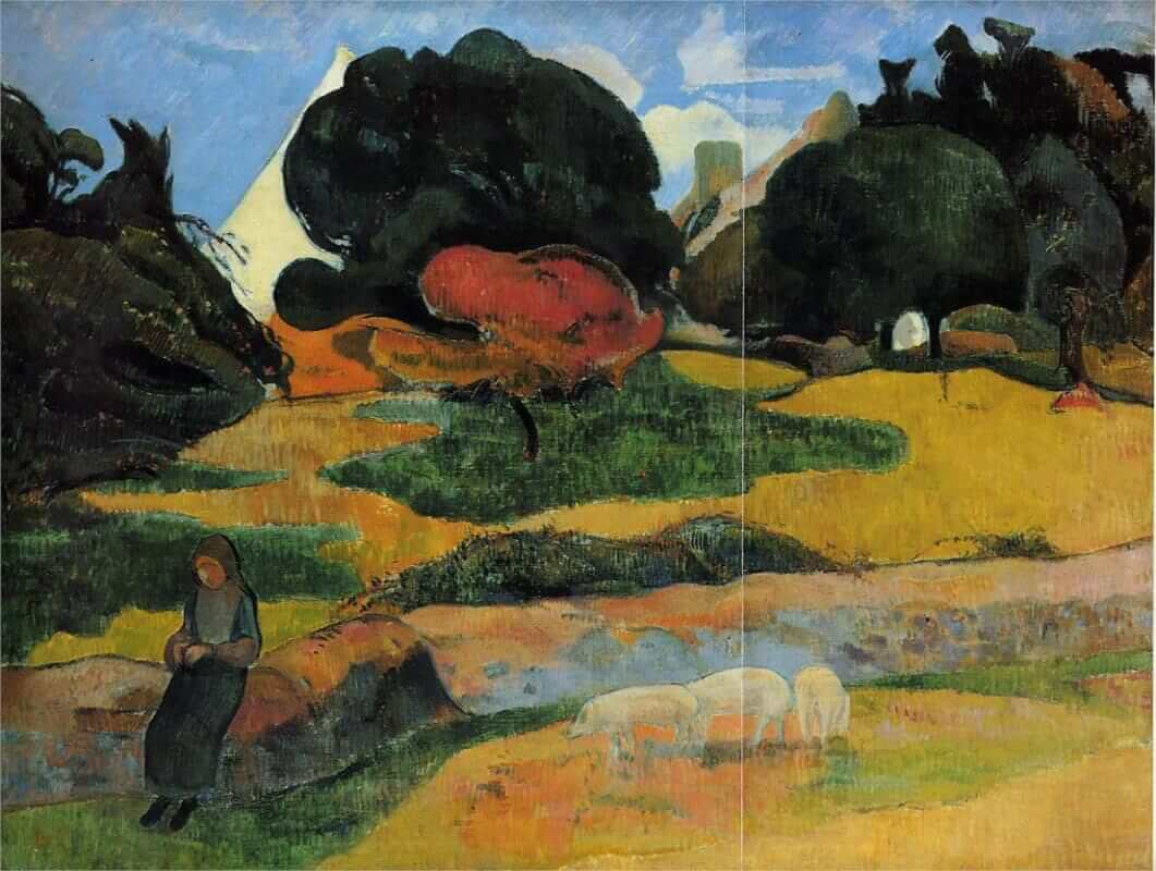 The swineherd 1889 - by Paul Gauguin