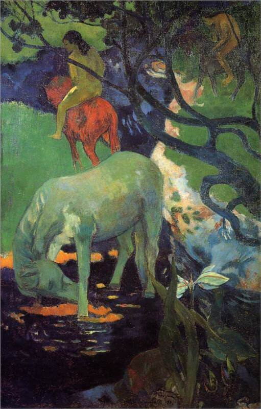 The white horse 1898 - by Paul Gauguin